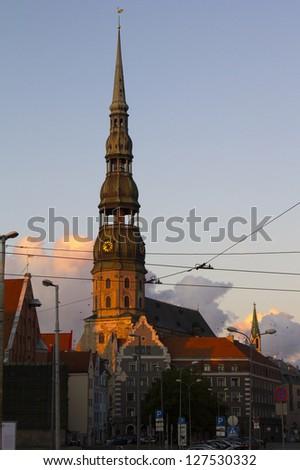 views of Riga - stock photo