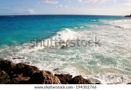 Views of the beautiful famous Crane Beach in Barbados