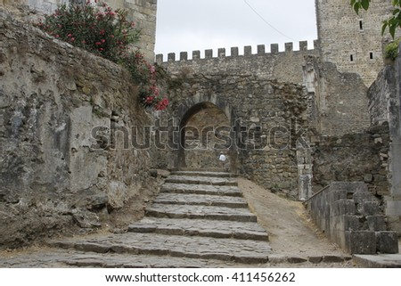 Views of the castle of Leiria (Portugal)