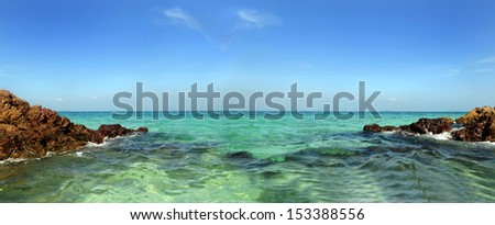 Views of the coast of Rhodes, Greece  - stock photo