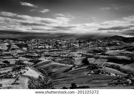 views of the hills - stock photo
