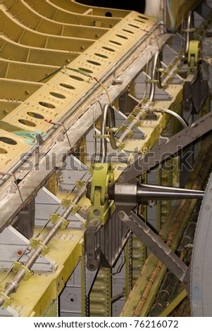 Views of the Space Shuttle from around it's storage area - stock photo