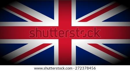 vignetted flag of the UK aka Union Jack - stock photo