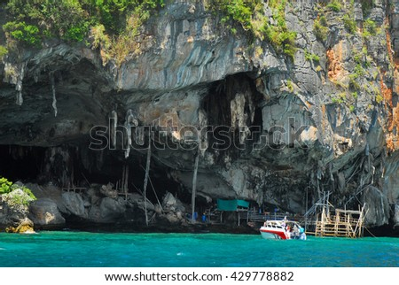 Viking cape at Phi Phi island, Krabi, Thailand - stock photo