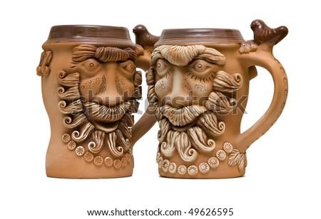 Viking mug - stock photo
