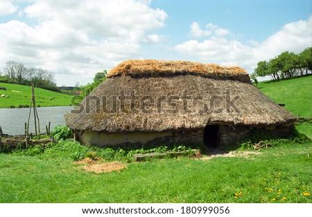 Viking village, Lejre, Denmark - stock photo