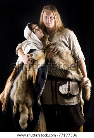 Vikings. Historical reenactment - stock photo