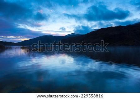 Vilarinho das Furnas, Sunrise Blue, Geres, National Park - stock photo