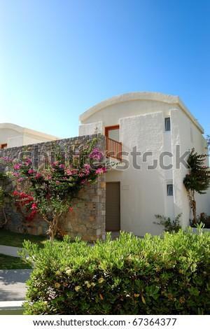 Villa at the luxury hotel, Crete, Greece - stock photo