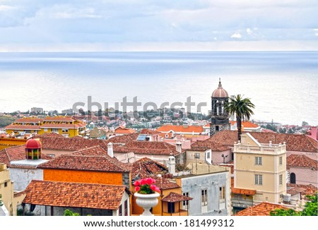 Villa de la Orotava. Tenerife. Spain. - stock photo