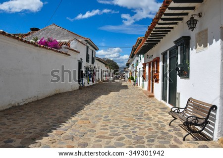 Villa de Leyva, Boyaca, Colombia. - stock photo