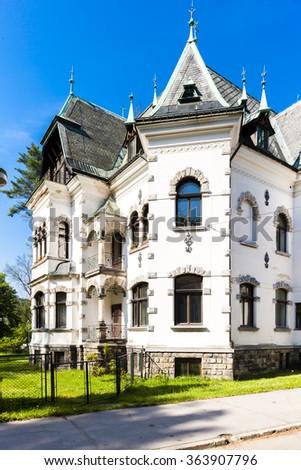 villa of Riedl, Desna, Czech Republic - stock photo