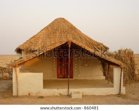 village house - stock photo
