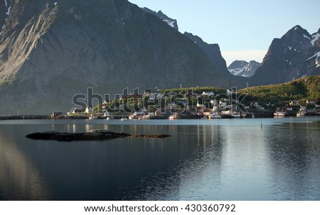 Village in northern Norway - stock photo