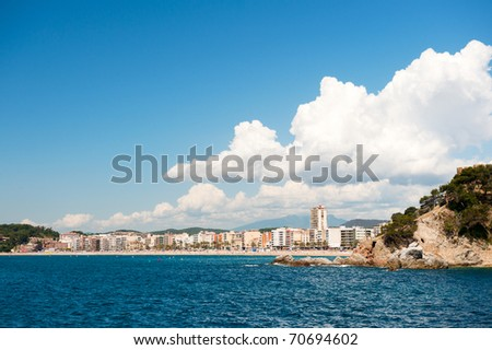 Village Lloret the Mar form sea side