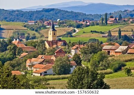 Village of Miholec in Croatia, region of Prigorje - stock photo