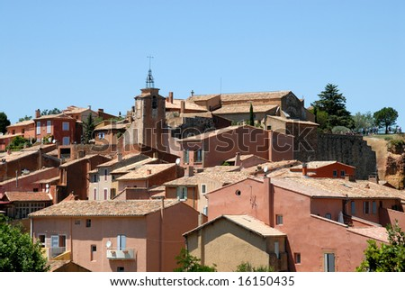 Village Roussillon in the Provence, southern France