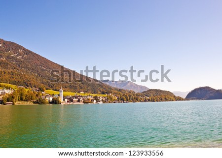 village St. Wolfgang on Wolfgangsee lake, Austria