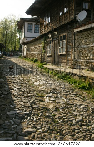 village street - stock photo