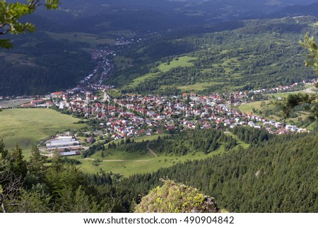 Village Terchova, the Birthplace of Janosik, Little Fatra, the beautiful Mountains  in Slovakia