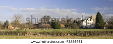 village with houses in countryside