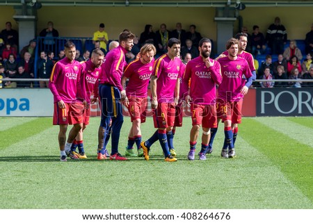 Barcelona football stock images royalty free images vectors shutterstock - Villarreal fc league table ...