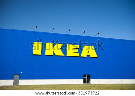 VILNIUS, LITHUANIA - JULY 25: IKEA Store on July 25, 2014 in Vilnius, Lithuania. IKEA is the world's largest furniture retailer. Founded in Sweden in 1943 by 17-year-old Ingvar Kamprad. - stock photo