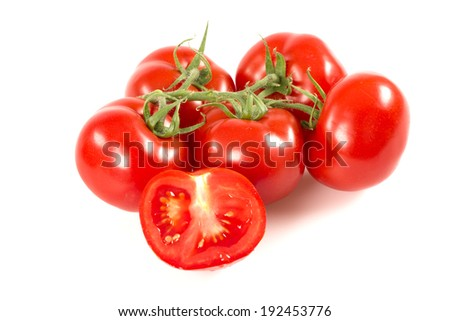 vine tomatoes - stock photo