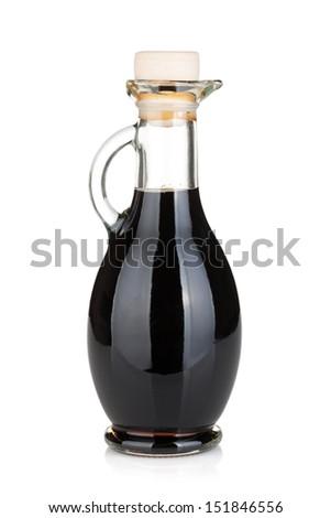 Vinegar bottle. Isolated on white background - stock photo