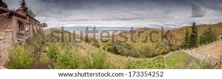 Vineyards in Kakheti - stock photo