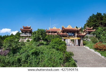 Vinh Phuc, Vietnam, April 22, 2016 the temple, the high mountains of Tam Dao, Vinh Phuc, Truc Lam Tay Thien