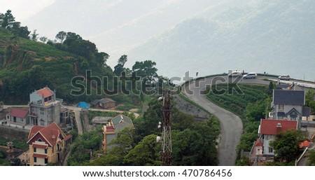 Vinh Phuc, Vietnam, August 17, 2016 uplink Tam Dao mountainous region, Vinh Phuc Province, Vietnam