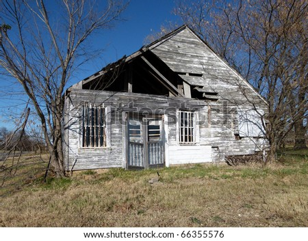 vintage abandoned rural home
