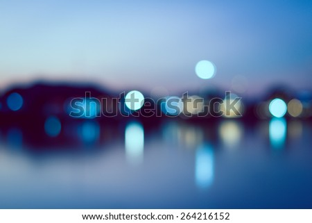 vintage abstract blur city background of bokeh of light - stock photo