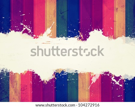 Vintage abstract color background with text place - stock photo