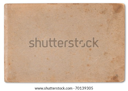 Vintage aged old cardboard. Original background or texture. - stock photo