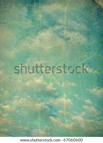 vintage aged photo of cloudy sky - stock photo