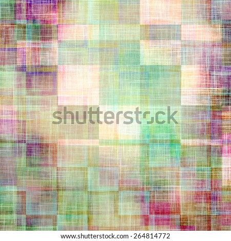 Vintage aged texture, colorful grunge background with space for text or image. With different color patterns: yellow (beige); green; purple (violet); pink - stock photo