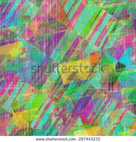 Vintage aged texture, colorful grunge background with space for text or image. With different color patterns: yellow (beige); green; purple (violet); blue - stock photo
