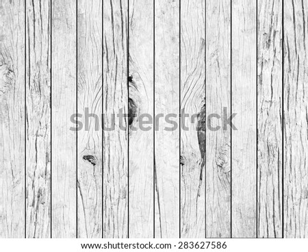 vintage aged white wooden slice panel background texture.