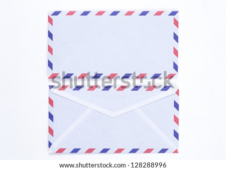 vintage air mail - stock photo