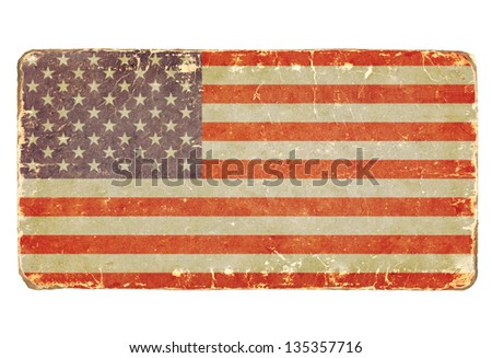 Vintage American flag. - stock photo