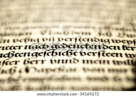 Vintage ancient page of a book - stock photo