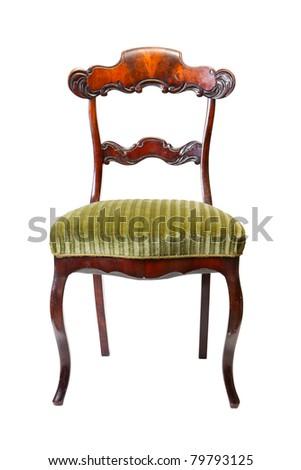 vintage antique chair - stock photo