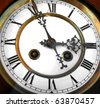 vintage antique clock - stock photo