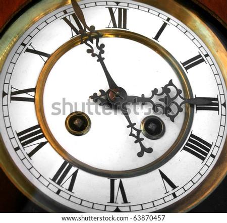 vintage antique clock - stock photo