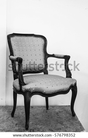 blue classical style armchair sofa couch stock photo 124580911 shutterstock. Black Bedroom Furniture Sets. Home Design Ideas