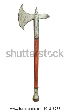Vintage axe isolated - stock photo