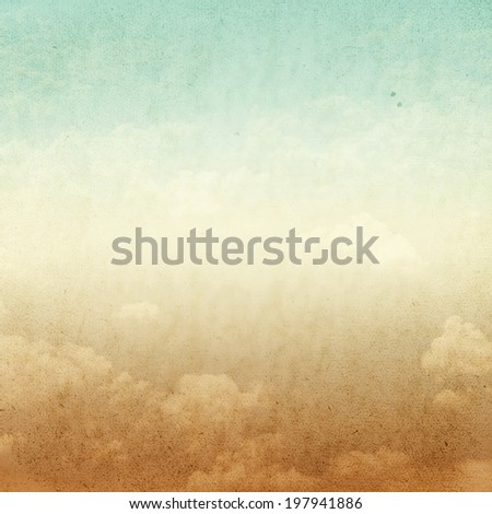 Vintage background,abstract background,old grunge may use as background,gold grunge background and blue sky view with vintage style background.