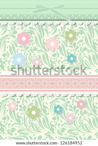 Vintage  background for invitation, backdrop, card, new year brochure, banner, border, wallpaper, template, texture raster version - stock photo